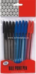 10pcs simple style ball point pen set