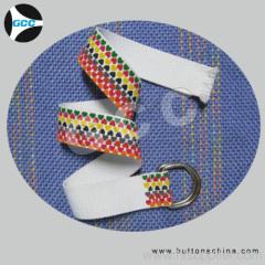 Printing design woven belt