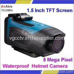 5 Mega Pixel CMOS Sensor Outdoor Water Resistant 1080p Full HD Sports Camera