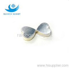 Rare Earth Ndfeb heart Magnet.silver coating magnet