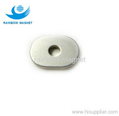 Permanent neodymium Iron Boron ellipse magnet with hole