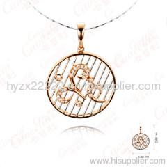 gold necklace with diamond,18k rose gold necklace,diamond pendant,fine jewelry