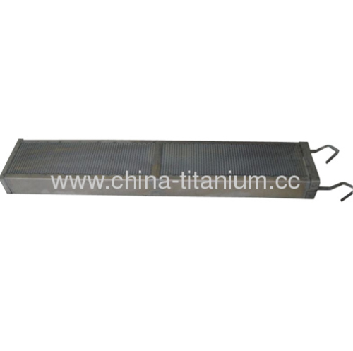 alloy of itanium anode basket