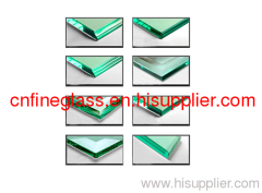 4-19mm edging glass