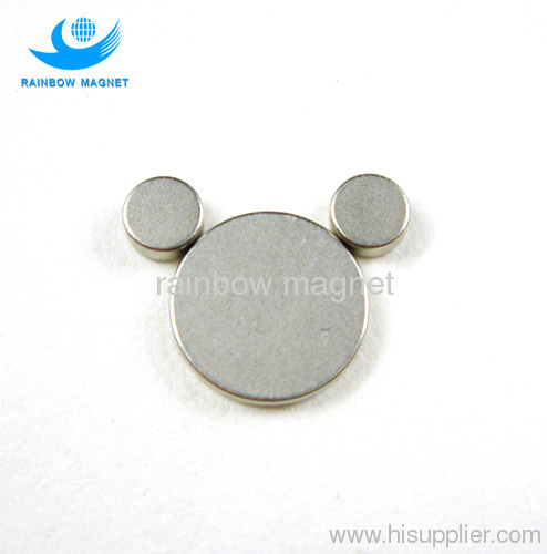 Permanent and powerful arc rare earth NdFeB disc magnets.