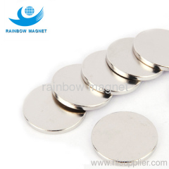 Permanent neodymium Iron Boron round magnets. NdFeB disc