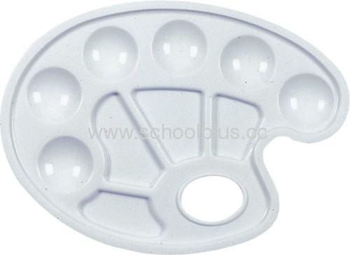 Shell Shape White Plastic Paint Palette For Student And Kids