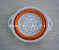 round folding collapsible colander