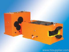 Conical twin screw barrel gear box