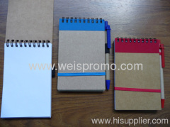 140x90mm Recycle notebook with pen