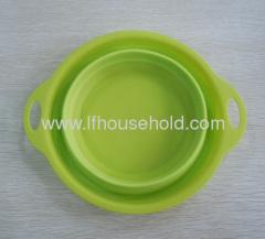 new round shape folding plastic bowl