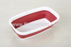 square plastic colander collapsible