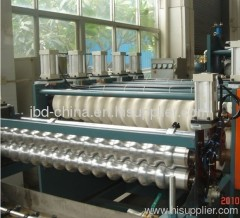 PVC wave tile making machine