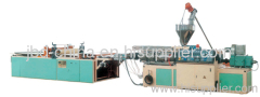 PVC wave board making machine