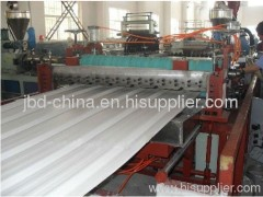 PVC trapezia-shape roof tile extrusion line