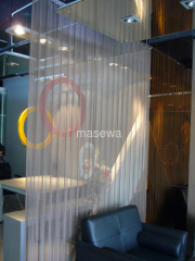 decorative metal mesh as divider
