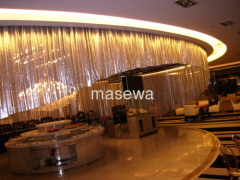 decorative metal mesh as ceiling drapery