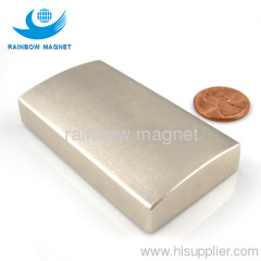 Sintered NdFeB arc magnet.Super strong permanent magnet arc