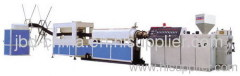 PE carbon spiral reinforcing pipe extrusion machine