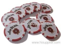 custom poker chips 11.5g PS sticker poker chip casino