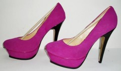 Ladies pink high heel dress shoes