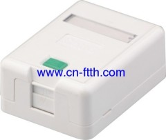 Single Port RJ45 Surface mm boîtier