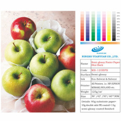 Semi glossy photo paper for Eco-solvent