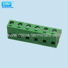 ROHS UL / VDE 7.62 / 7.50ミリメートルプラグイン可能なターミナルブロック真鍮のネジ