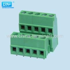 UL CE pitch 5.08mm screw pcb terminal blocks