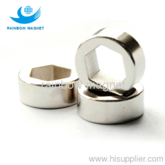 Permanent magnet ring with special hexagon hole