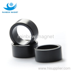 Black Epoxy NdFeB magnet ring. Sintered Black Epoxy ring