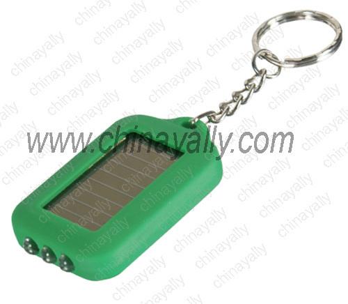 LED solar keychain light