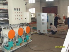 PVC decorative sheet production line