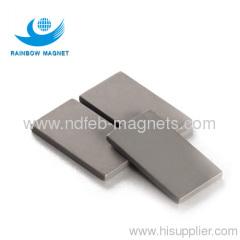 Permanent neodymium Iron Boron block magnet.NdFeB block