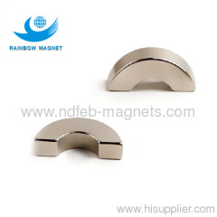 Rare Earth Ndfeb Segment Magnet.NdFeB Arc magnet