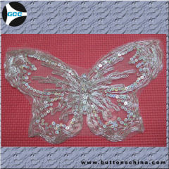 butterfly collar lace on the withe net fabirc
