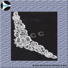 WHITE EMBROIDERY COLLAR LACE FOR WOWEN COAT NECK