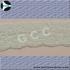 100% POLYESTER EMBROIDERY LACE