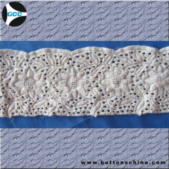 100%COTTON WHITE EMBROIDERY LACE