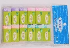 Eraser in sleeve set