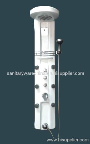 6 Massage Jets White Acrylic Shower Panels Manufacturer