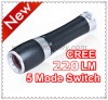 CREE XPE led flashlight with zoom dimmer