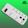 8outlet America style power surge suppressor with transformer outlets
