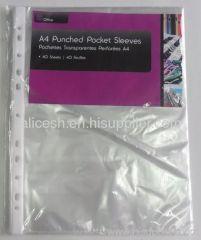 PP punched pocket