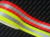 Flame retardant reflective strips