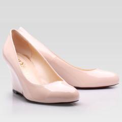 여성은 발 뒤꿈치 둥근 발가락 신발 웨지