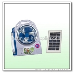 mini solar fan chargeable