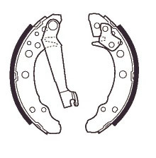 AUDI 80 rear brake shoe set