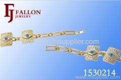 gold filled cuff fashion bracelet