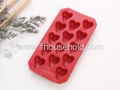 valentine heart ice cube